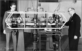 The world's first atomic clock - 1955
